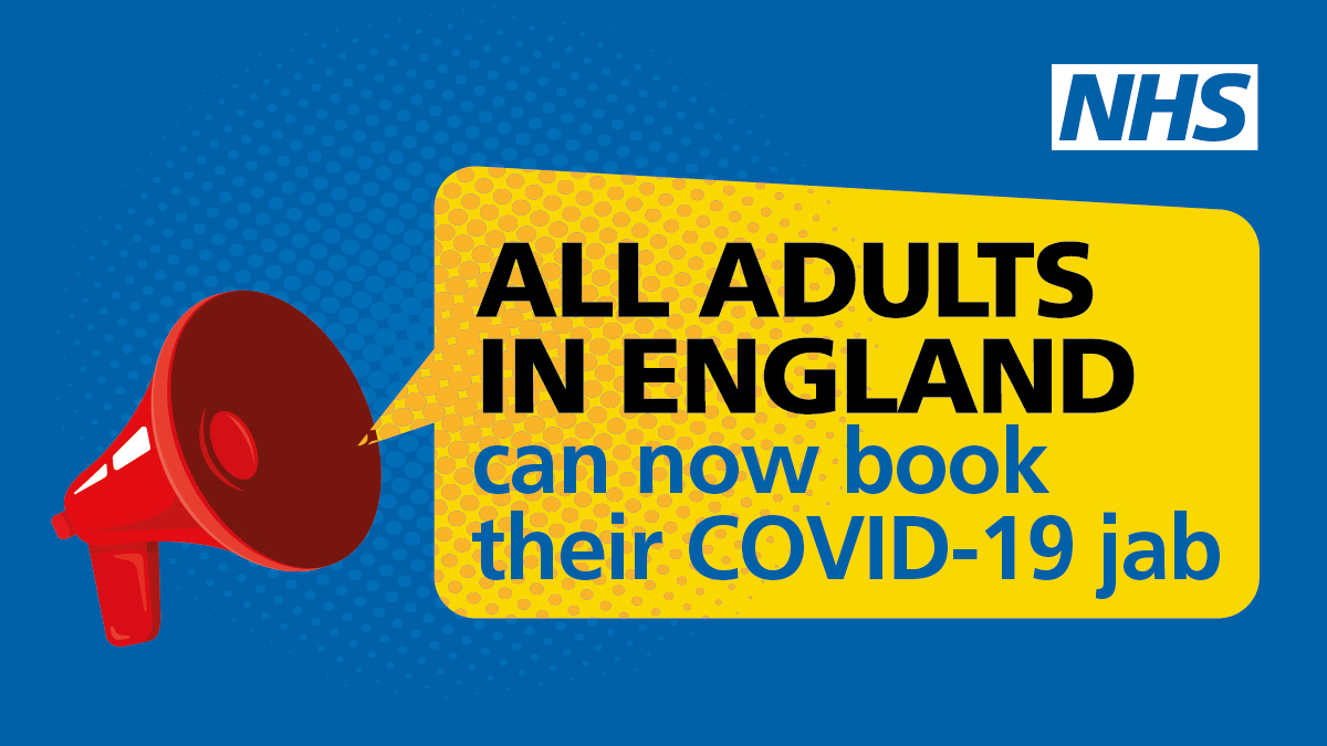 NHS Invites All Adults To Get A Covid Jab In Final Push